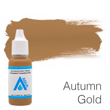 Купить Пигмент для татуажа Aqua Autmn Gold 15 мл