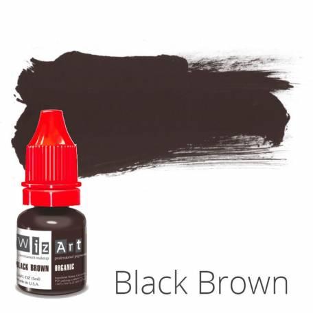 Купить Пигмент для татуажа WizArt Organic Black Brown 5 мл