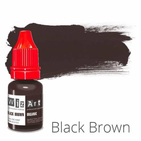 Купить Пигмент для татуажа WizArt Organic Black Brown 10 мл