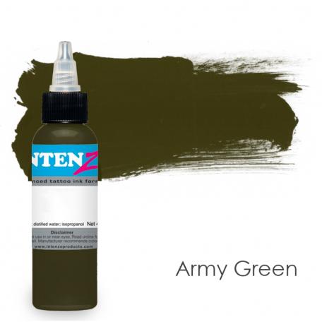 Купить Тату краска Intenze Army Green
