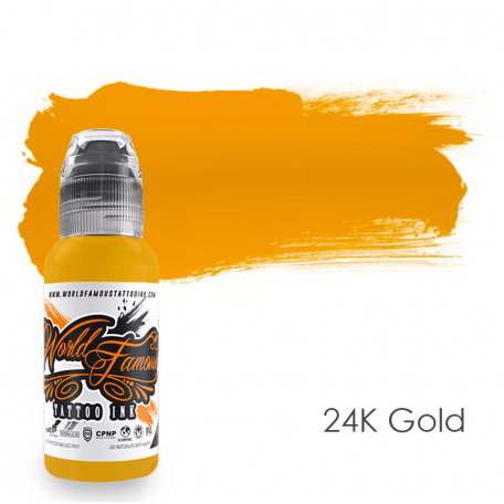 Купить Тату краска World Famous 24K Gold