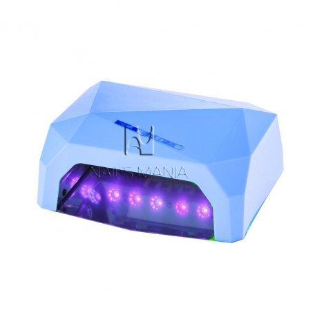 LED+CCFL гибридные Уф лампы для маникюра - УФ LED+CCFL лампа (таймер 10, 30, 60сек) 36 Вт (голубая)