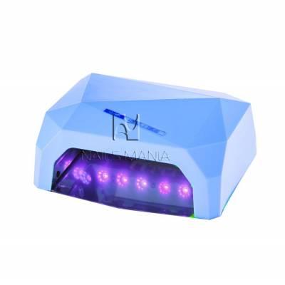 УФ LED+CCFL лампа (таймер 10, 30, 60 сек) 36 Вт (голубая)