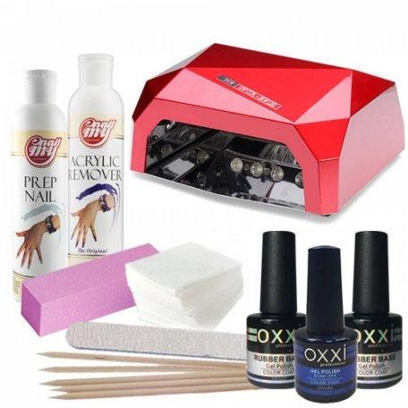 Стартовые наборы гель-лаков OXXI - Стартовый набор гель лаков OXXI ( c LED-CCFL лампой)