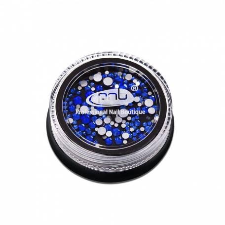 Купить Стразы для дизайна ногтей PNB, Blue mix size 200 шт