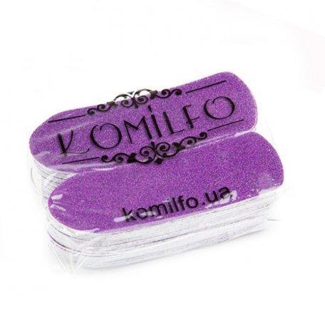 Сменные одноразовые абразивы 50 шт. Komilfo для педикюрной терки, 80 грит (фиолетовые)