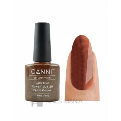 Гель-лак CANNI №009 (коричневый с микроблеском), 7.3 мл