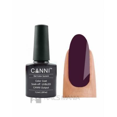 Гель-лак CANNI №022 (черно-фиолетовый, эмаль), 7.3 мл