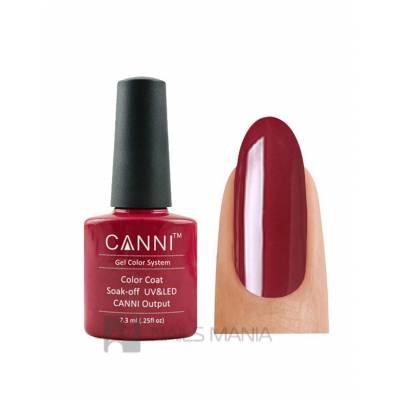 Гель-лак CANNI №027 (темно-красный, эмаль), 7.3 мл