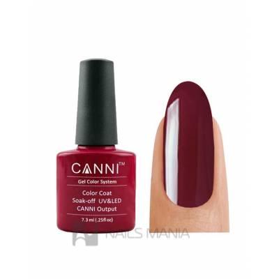 Гель-лак CANNI №028 (бордовый, эмаль), 7.3 мл