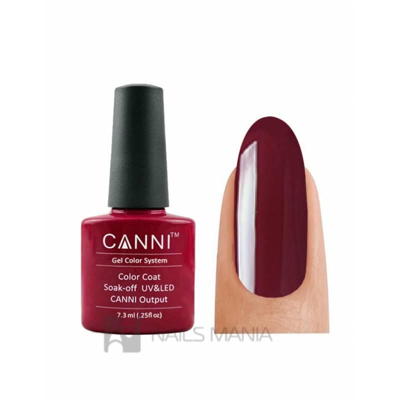 Купить Гель-лак CANNI №028 (бордовый, эмаль), 7.3 мл