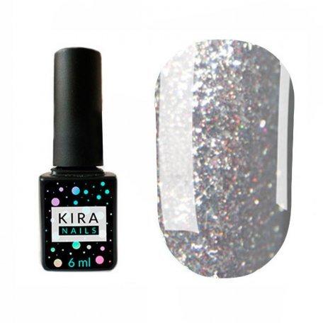 Гель-лаки Kira Nails Shine Bright 6 мл - Гель-лак Kira Nails Shine Bright №004 (темное серебро с мелкими красными блестками), 6 мл