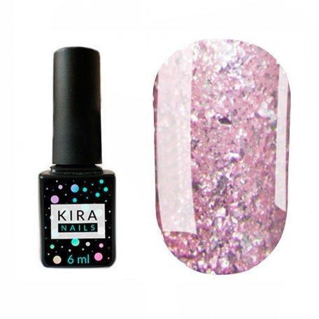 Гель-лаки Kira Nails Shine Bright 6 мл - Гель-лак Kira Nails Shine Bright №008 (розовый с блестками), 6 мл