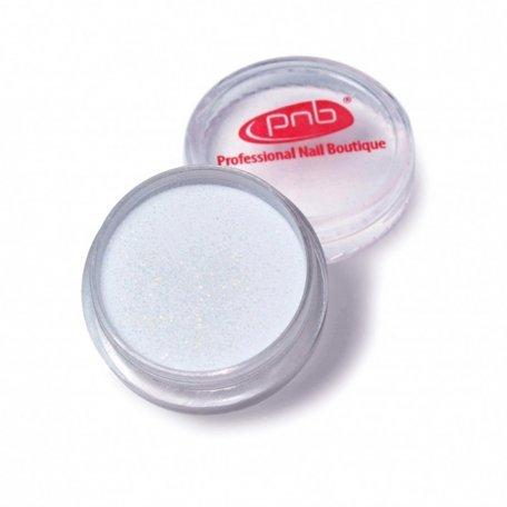 Цветная акриловая пудра PNB 01, белый блеск 2 г
