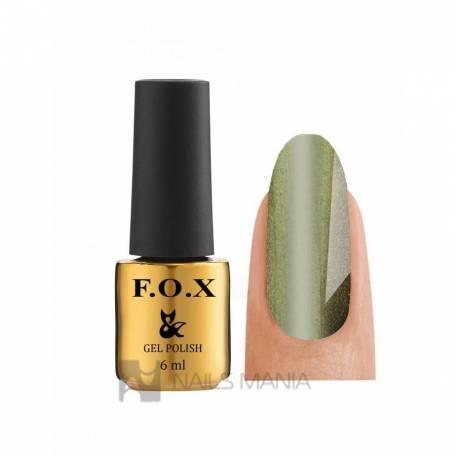 Купити Гель-лак F. O. X Gold Cat Eye №016 (Зелений)