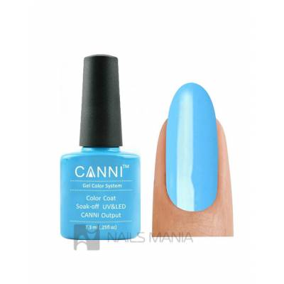 Гель-лак CANNI №074 (голубой, эмаль), 7.3 мл