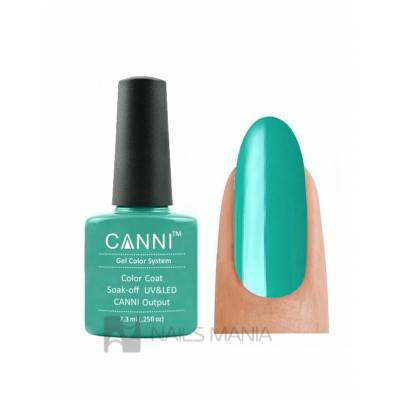 Гель-лак CANNI №076 (зеленый, эмаль), 7.3 мл