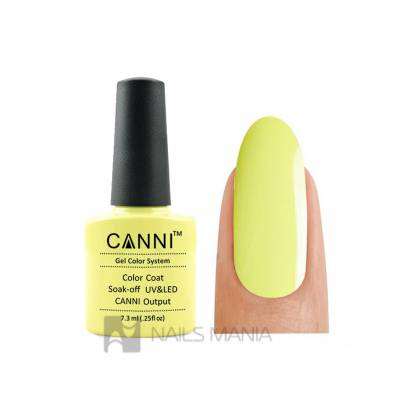 Гель-лак CANNI №081 (лимонный, эмаль), 7.3 мл