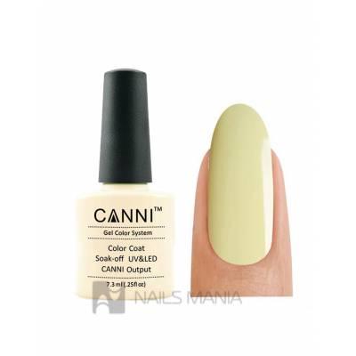 Гель-лак CANNI №083 (пастельно-желтый, эмаль), 7.3 мл