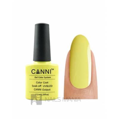 Гель-лак CANNI №084 (пастельно-желтый, эмаль), 7.3 мл
