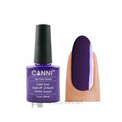 Гель-лак CANNI №099 (приглушенный темно-фиолетовый, эмаль), 7.3 мл