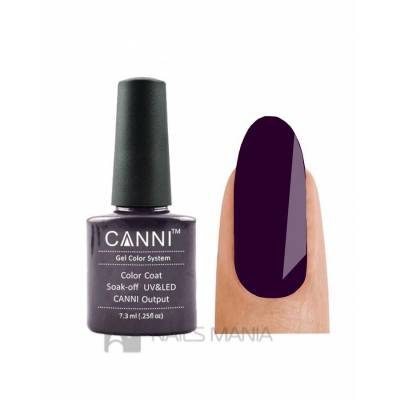 Гель-лак CANNI №100 (темно-фиолетовый, эмаль) 7,3 мл