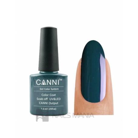 Купить Гель-лак CANNI №126 (темно-зеленый, эмаль), 7.3 мл