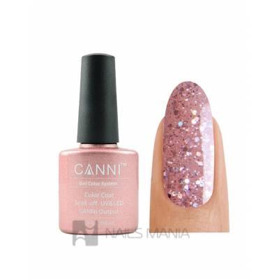 Гель-лак CANNI №184 (полупрозрачный розовый с блестками) 7.3 мл.