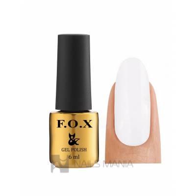 Гель-лак F.O.X. №001 (Белый), 6 ml