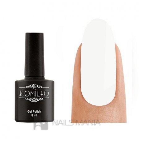 Гель-лак Komilfo Glitter Top - закрепитель для гель-лака с мелким шиммером БЕЗ липкого слоя, 8 мл