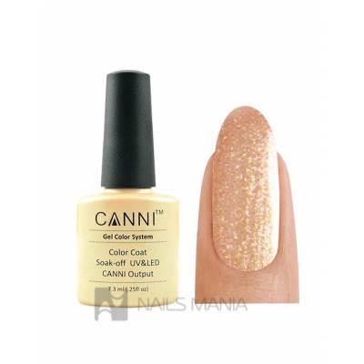 Гель-лак CANNI №195 (персиковый с золотым микроблеском) 7.3 мл.