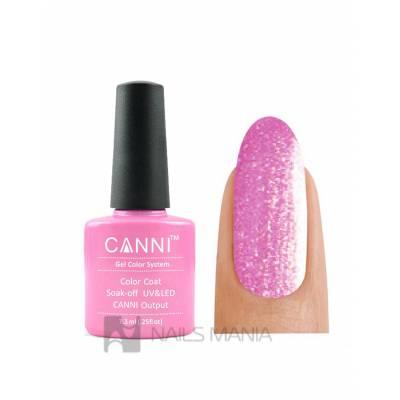 Гель-лак CANNI №205 (розовый с золотым микроблеском) 7.3 мл.