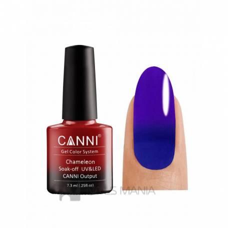 Купить Термо гель-лак CANNI №331 (синий, при нагревании - фиолетовый), 7.3 мл