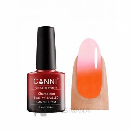 Купить Термо гель-лак Canni №334 (оранжевый, при нагревании - розовато-белый), 7,3 мл.