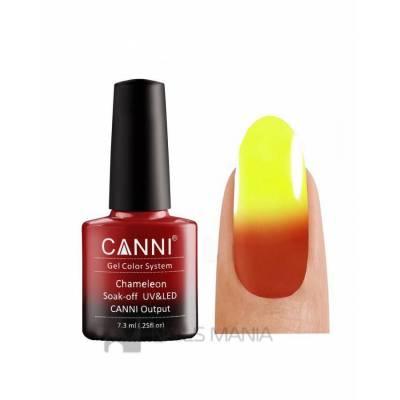 Термо гель-лак CANNI №340 (оранжево-красный, при нагревании - яркий желтый), 7.3 мл.