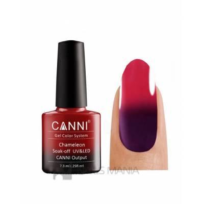 Термо гель-лак CANNI №351 (темный, пастельно-фиолетовый, при нагревании - красный), 7.3 мл
