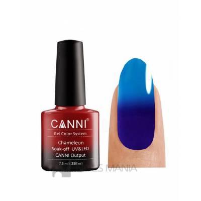 Термо гель-лак CANNI №354 (темно-синий, при нагревании - яркий синий), 7.3 мл