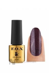 Гель-лак F.O.X. №101 (Темно-фиолетовый с микроблеском), 6 ml