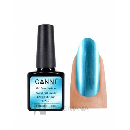 Купить Гель-лак зеркальный CANNI №712 голубой 7.3 мл.
