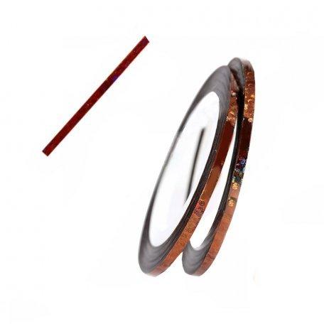 Лента для ногтей - Лента глянцевая для дизайна ногтей, цвет Bronze, 3 мм
