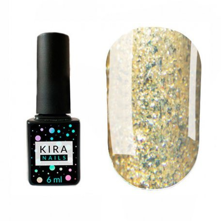 Гель-лаки Kira Nails Shine Bright 6 мл - Гель-лак Kira Nails Shine Bright №005 (золото с блестками), 6 мл