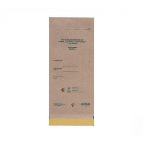 Пакеты для воздушной стерилизации 100х250мм (крафт) из крафт бумаги 100шт