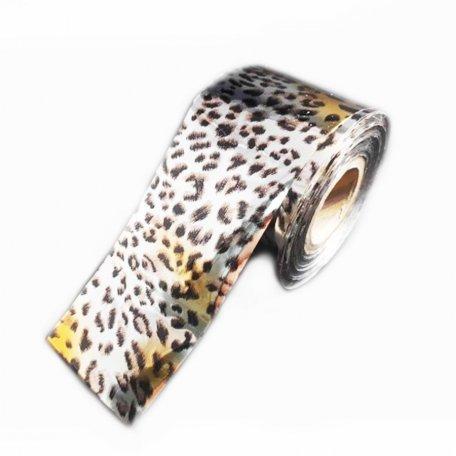 Фольга для дизайна ногтей Idea, Рысь 100см/4cм F46