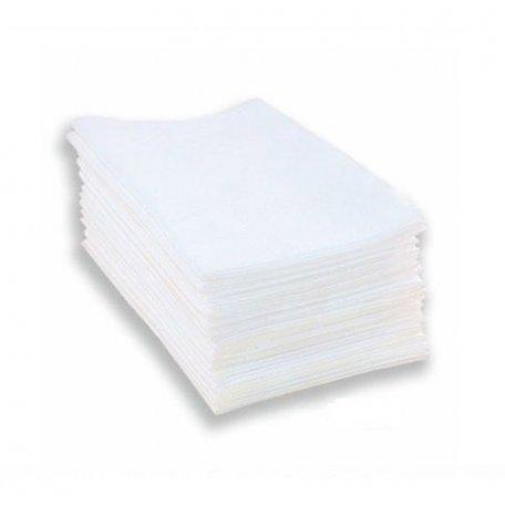 Полотенце одноразовое 40х40 100 шт (Timpa) гладкие белые нарезанные