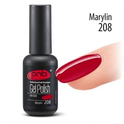 Гель-лак PNB 208 Marylin (Красный), 8 мл