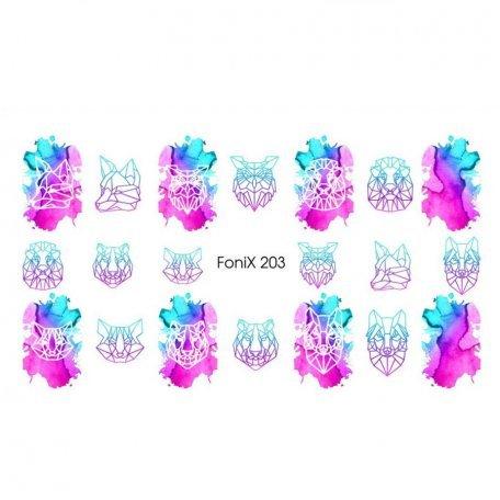 Слайдер дизайн для ногтей  FoniX 203