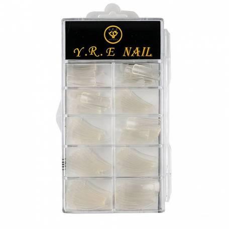 Купить Типсы Y.R.E для наращивания ногтей 100 шт прозрачные, классика
