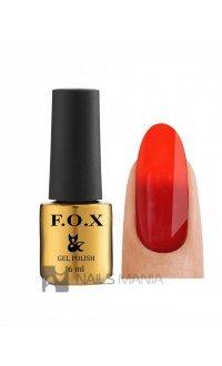 Гель-лак F.O.X gold Thermo (Красный), 6 мл №009