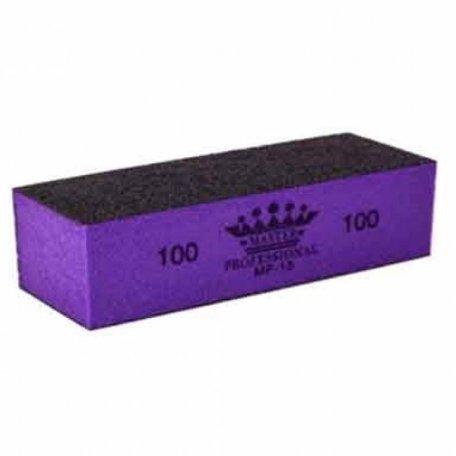 Баффы, полировщики и шлифовщики - Бафик для снятия гель лака Master Professional 100/100 MF-15