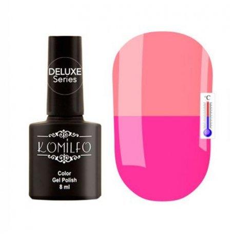 """Гель-лаки Komilfo """"Deluxe Termo"""" (Делюкс Термо) 8 мл - Гель-лак Komilfo DeLuxe Termo №C013 (розовый, при нагревании — приглушенный персиково-розовый), 8 мл"""